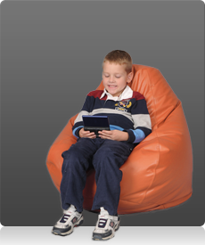 Kids Bean Bag Chairs  in Orange