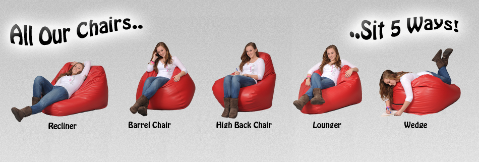 Bean bag chairs that sit 5 Ways