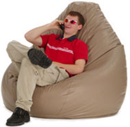 talk on phone bean bag