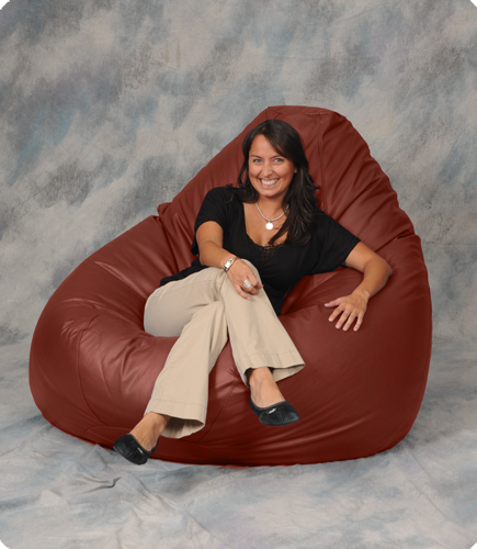 Giant Bean Bag Chair in Ember