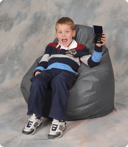 Seal Gray Kids Bean Bag Chair