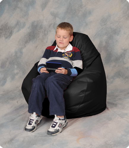 Kids Bean Bag Chair in Black