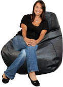 Black Weave Big Adult Bean bag