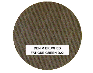 Denim Brushed Fatigue Green Kids Bean Bag Chairs