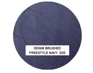 Denim Brushed Freestyle Navy Kids Bean Bag Chairs