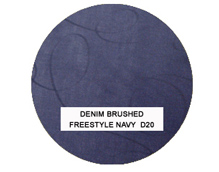 Denim Brushed Freestyle Navy Bean Bag Chairs for Adults