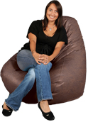 Big Adult Beanbag in Cimmaron Brown