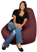 Cranberry Deep Big XL Adult Bean Bag