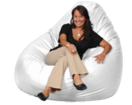 Designer White Giant Bean Bag