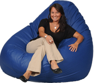 Giant Bean Bag in Cobalt Blue