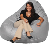 Giant Bean Bag in Gray Dawn