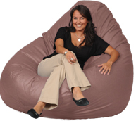 Milk Chocolate Huge Mega Beanbag