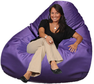 Purple Giant Bean Bag