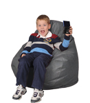 Seal Gray Kids Bean Bag Chairs