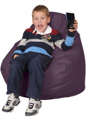 Youth Kids Bean Bag Chairs in Eggplant