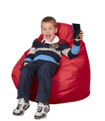 Kid Beanbag in Bright Red
