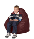 Chili Powder Red Bean Bag Chairs for Kids