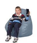 Kids Bean Bag Chairs in Glacier Blue