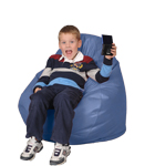 Kids Bean Bag Chair Furniture in Lilac Blue