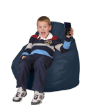Bean Bag Chairs for Kids in Marine Blue