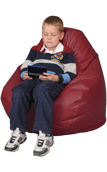 Kids Bean Bag Chair in Red Maroon
