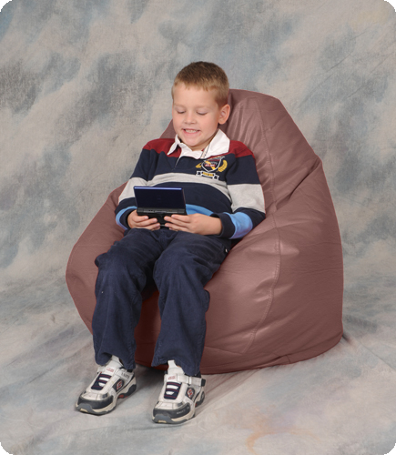 Kids Youth Bean Bag Chairs in Milk Chocolate