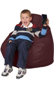 Dark Red Youth Beanbag