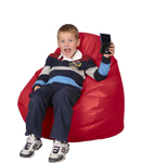 Scarlet Red Bean Bag Chairs for Kids