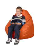 Bean Bag Chairs for Kids in Tangerine Orange
