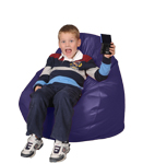 Kids Bean Bag Chairs in Viotet Purple