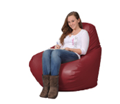 Dark Red Large Bean Bag Chair