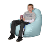 Large Bean Bag Chairs in Light Blue
