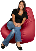Lipstick Red Big XL Adult Bean Bag