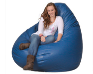 Giant Bright Blue Beanbag