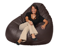 Really Big Brown Beanbag Chair