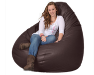 Huge Giant Bean Bag Chair in Brown