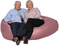 Giant Bean Bag in Clay Pink