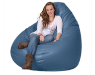 Giant Bean Bag Chair in Cornflower Blue