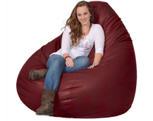 Giant Bean Bag in Deep Red