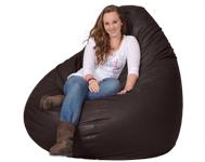 Dark Walnut Bean Bag for Two