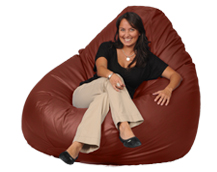 Giant Bean Bag Chair in Mushroom