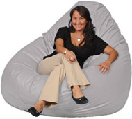 Giant Bean Bag in Gray Fog