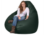 Giant Bean Bag in Hunter Green