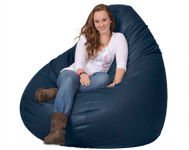 Giant Bean Bag in Marine Blue