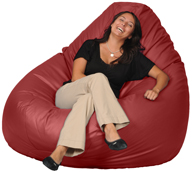Giant Bean Bag Chair in Red