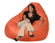 Giant Orange Beanbag
