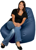 Pacific Blue  Bean Bag Chairs for Adults