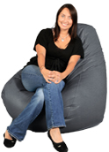 Big Adult Beanbag in Dolphin Gray