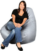 Silver Adult Beanbag