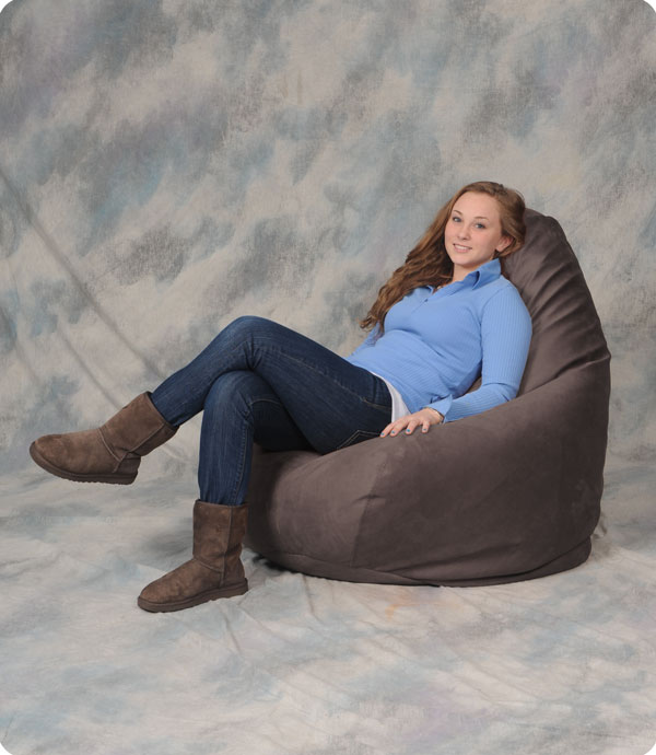 Soft Adult Bean Bag in Cocoa